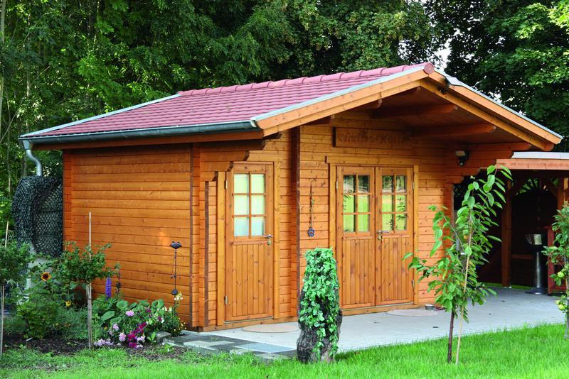 Gartenhaus 58mm - Großkoschener Holzblockhäuser