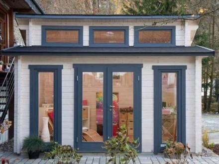 Gartenhaus 58mm   Großkoschener Holzblockhäuser