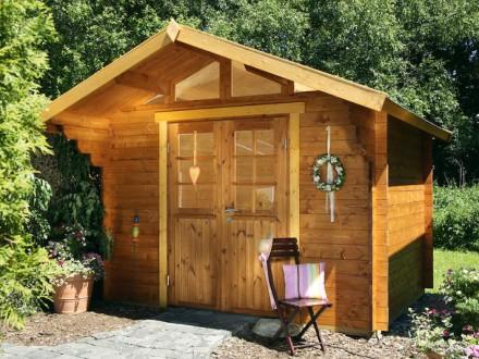 Gartenhaus 34mm   Großkoschener Holzblockhäuser